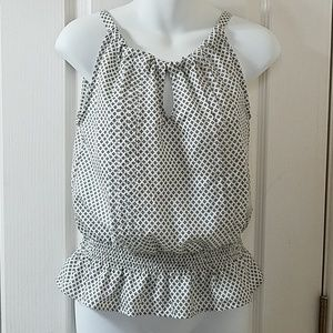 Sleeveless Tommy Girl Patterned Top